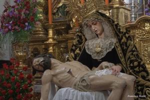 Besamanos de Nuestra Señora de los Dolores, tras la restauración del Satísimo Cristo de la Providencia (2010) Los Servitas